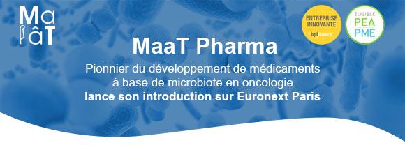 Avec MaaT Pharma, le microbiote entre en Bourse